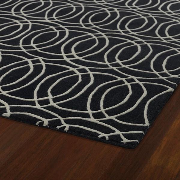 Black, Ivory (02) Contemporary / Modern Area Rug