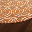 Product Image of Orange, Ivory (89) Contemporary / Modern Area Rug