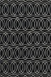 Product Image of Contemporary / Modern Black, Ivory (02) Area Rug