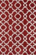 Product Image of Contemporary / Modern Red, Ivory (25) Area Rug