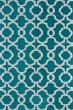 Product Image of Contemporary / Modern Teal, Ivory (91) Area Rug