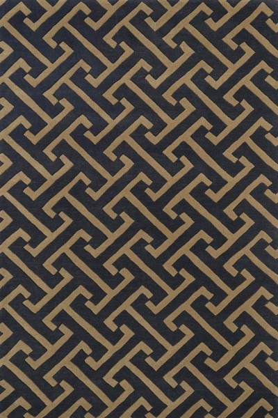 Charcoal, Milk Chocolate Brown (38) Contemporary / Modern Area Rug
