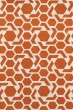 Product Image of Contemporary / Modern Orange, Ivory (89) Area Rug