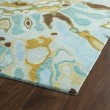 Product Image of Teal, Chocolate, Mustard (91) Contemporary / Modern Area Rug