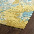 Product Image of Gold, Turquoise, Light Brown (05) Contemporary / Modern Area Rug