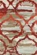 Product Image of Contemporary / Modern Red, Oatmeal, Light Brown (25) Area Rug