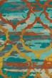 Product Image of Contemporary / Modern Teal, Paprika, Gold (91) Area Rug