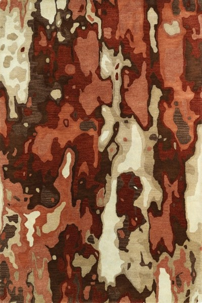 Rust, Chocolate, Terracotta (30) Contemporary / Modern Area Rug