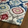 Product Image of Ivory, Grey, Brick Red (86) Ikat Area Rug