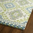 Product Image of Ivory, Lime Green, Sky Blue (01) Southwestern / Lodge Area Rug