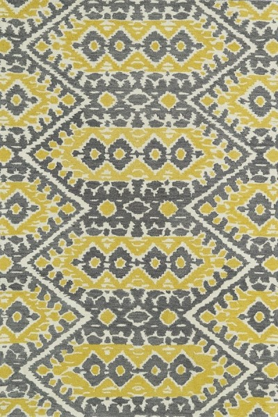 Yellow, Grey, Ivory (28) Bohemian Area Rug