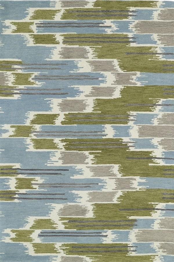 Wasabi, Sky Blue, Grey (70) Transitional Area Rug