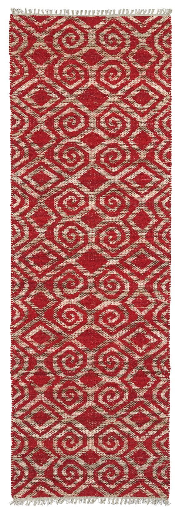 Red, Natural Fiber (25) Transitional Area Rug