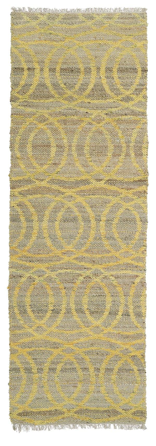 Yellow, Natural Fiber (28) Transitional Area Rug