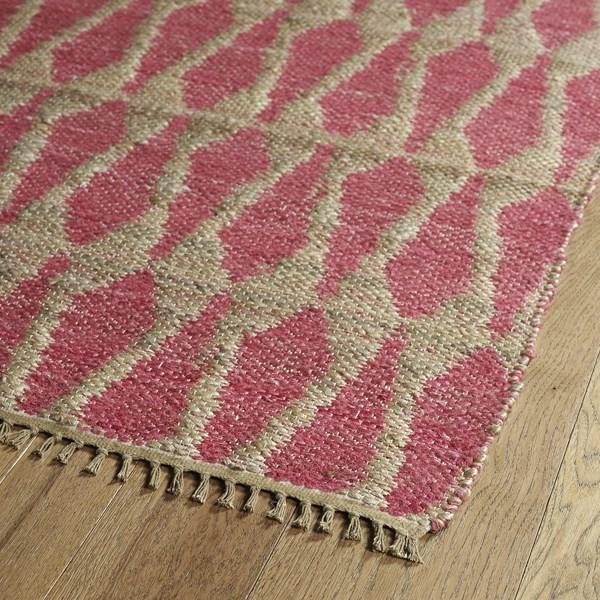 Pink, Natural Fiber (92) Transitional Area Rug