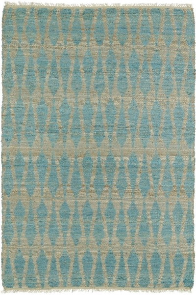 Teal, Natural Fiber (91) Transitional Area Rug