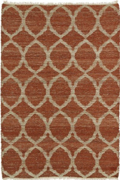 Rust, Natural Fiber (30) Contemporary / Modern Area Rug