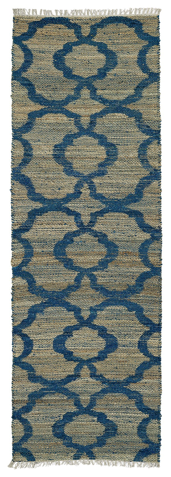 Blue, Natural Fiber (17) Moroccan Area Rug