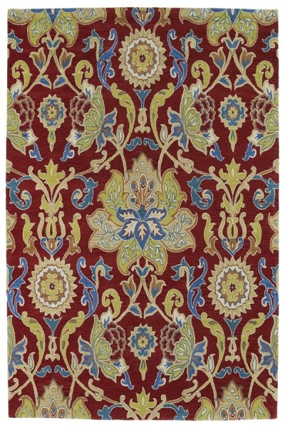 Red, Gold, Avocado (25) Traditional / Oriental Area Rug