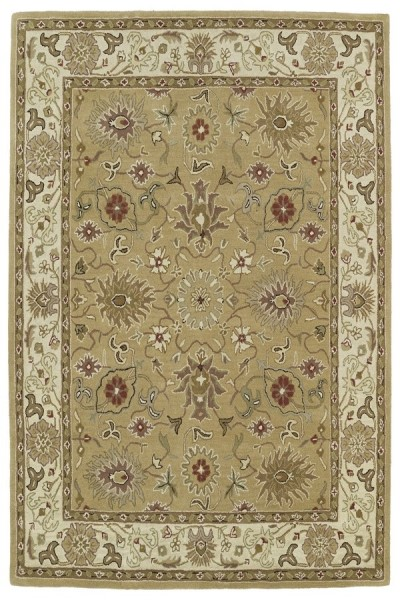 Camel, Sage Green Light Brown (43) Traditional / Oriental Area Rug