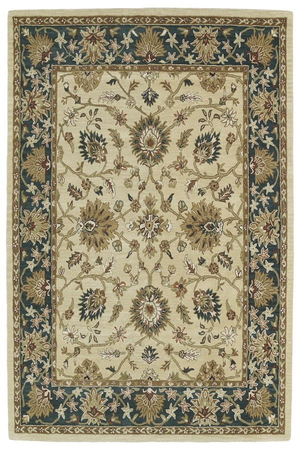 Gold, Beige, Light Brown (05) Traditional / Oriental Area Rug