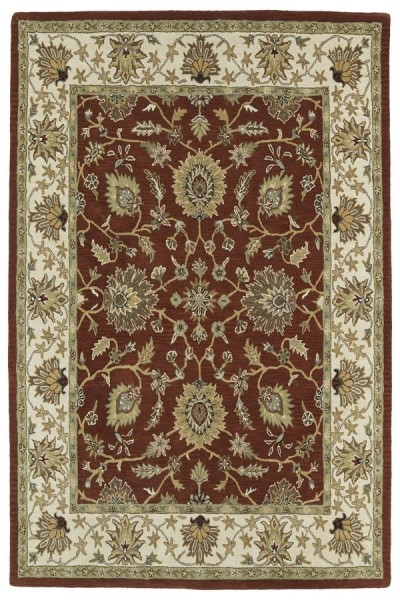 Rust, Beige, Olive Green (30) Traditional / Oriental Area Rug