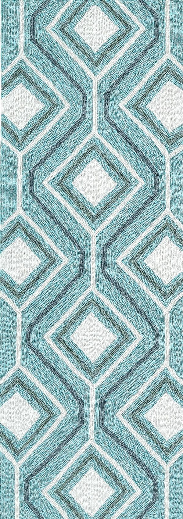 Blue, Grey, Ivory (17) Moroccan Area Rug