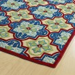 Product Image of Red, Navy, Green (86) Moroccan Area Rug