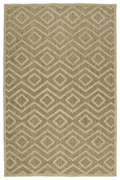 Khaki, Light Brown (105) Contemporary / Modern Area Rug