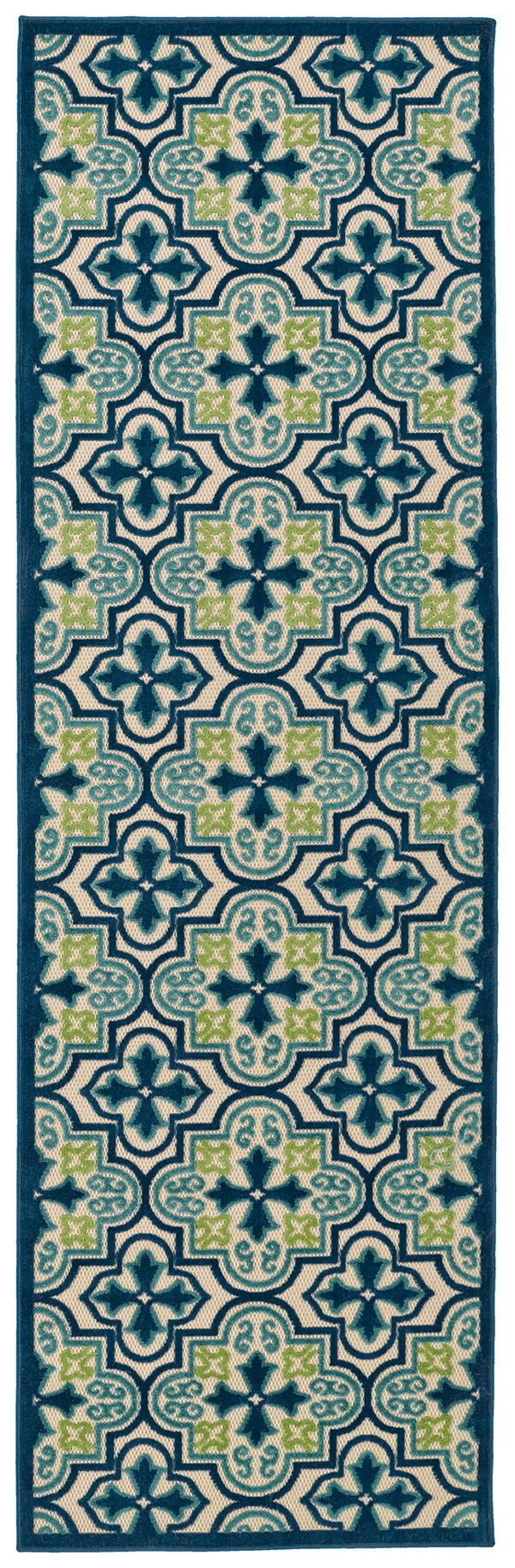 Blue, Green, Beige (17) Moroccan Area Rug