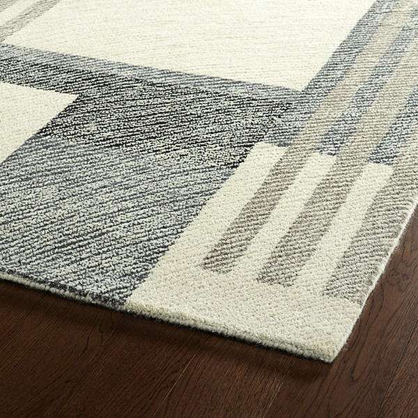 Ivory, Grey, Charcoal (01) Transitional Area Rug