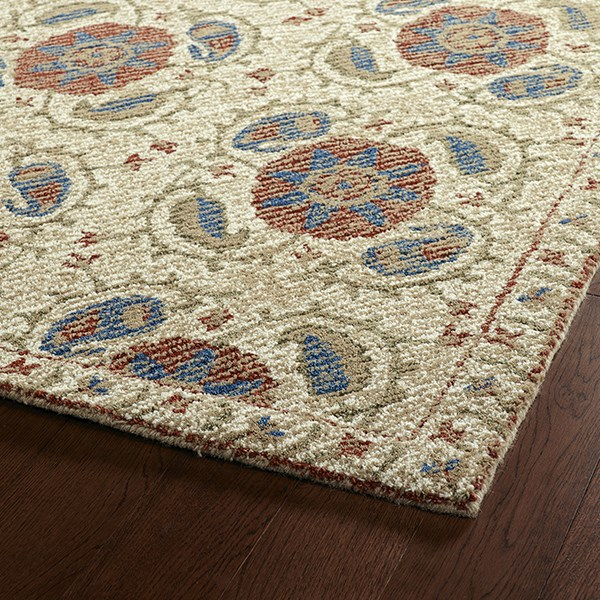 Ivory, Camel, Brick (43) Traditional / Oriental Area Rug