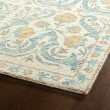 Product Image of Ivory, Teal, Grey, Rose (91) Traditional / Oriental Area Rug