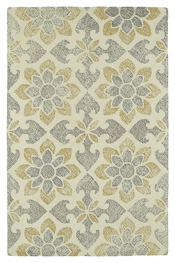 Ivory, Grey, Gold (01) Transitional Area Rug