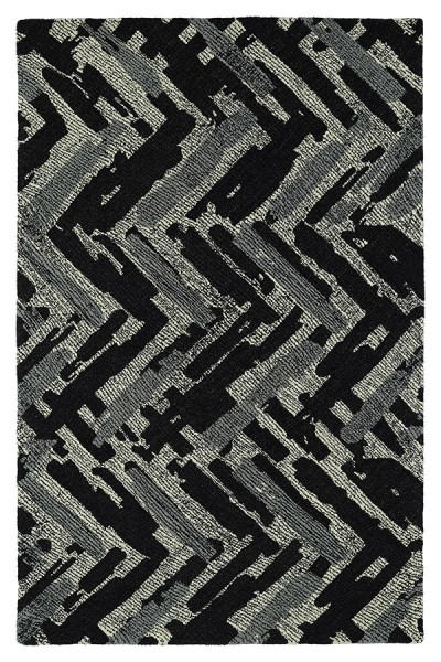 Charcoal, Ivory, Slate (02) Transitional Area Rug