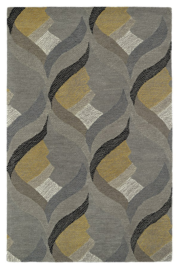 Grey, Ivory, Gold (75) Moroccan Area Rug