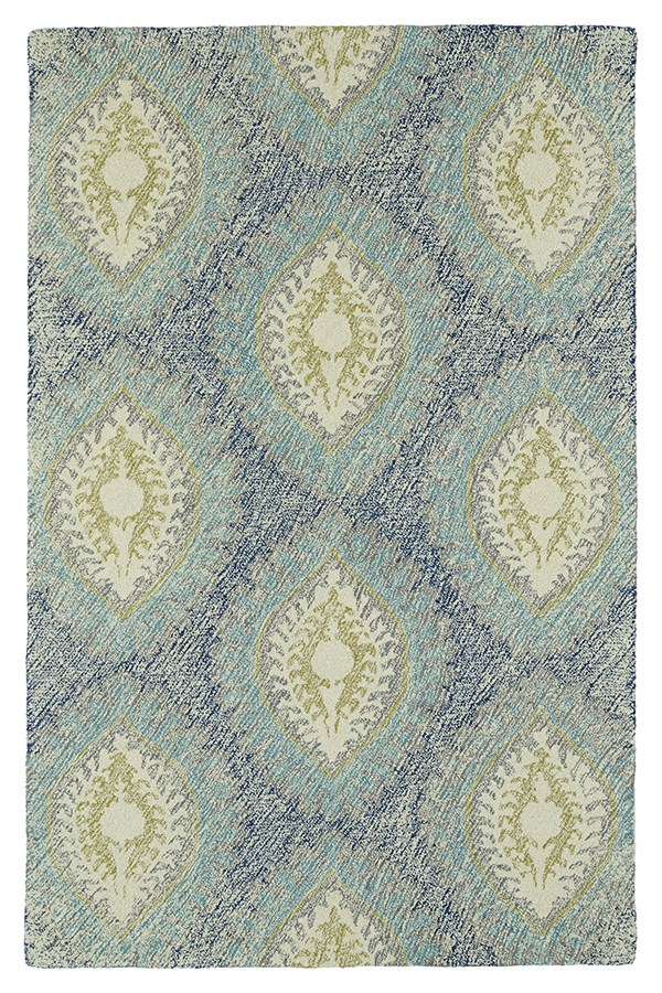 Denim, Turquoise, Ivory (17) Transitional Area Rug