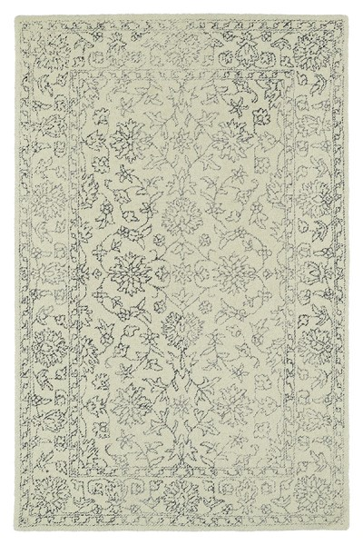 Ivory, Grey, Dark Grey (01) Vintage / Overdyed Area Rug
