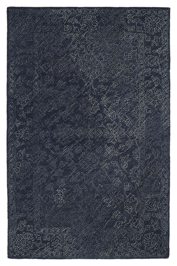 Denim, Grey, Navy (10) Vintage / Overdyed Area Rug
