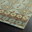 Product Image of Turquoise, Tan, Brown (78) Southwestern / Lodge Area Rug