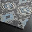 Product Image of Charcoal, Grey, Ivory (38) Ikat Area Rug