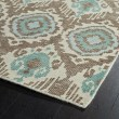 Product Image of Light Brown, Sand, Turquoise (82) Ikat Area Rug