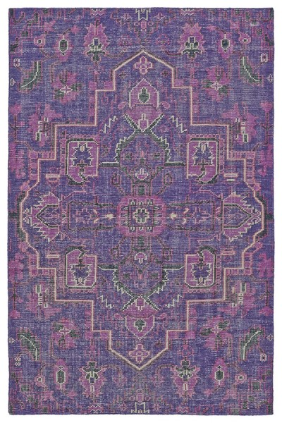 Purple, Charcoal, Ivory (95) Bohemian Area Rug