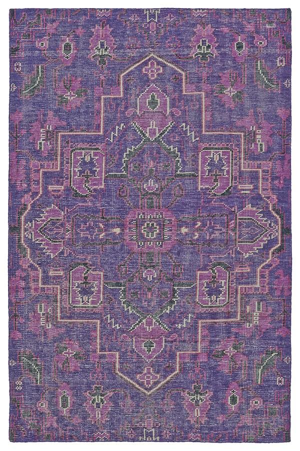 Purple, Charcoal, Ivory (95) Bohemian Area Rug