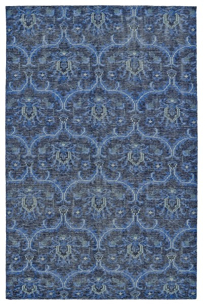 Blue, Navy, Graphite (17) Transitional Area Rug