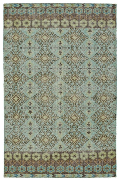 Turquoise, Tan, Brown (78) Moroccan Area Rug