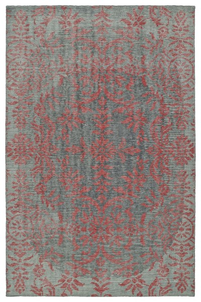 Light Grey, Graphite, Pink (92) Traditional / Oriental Area Rug