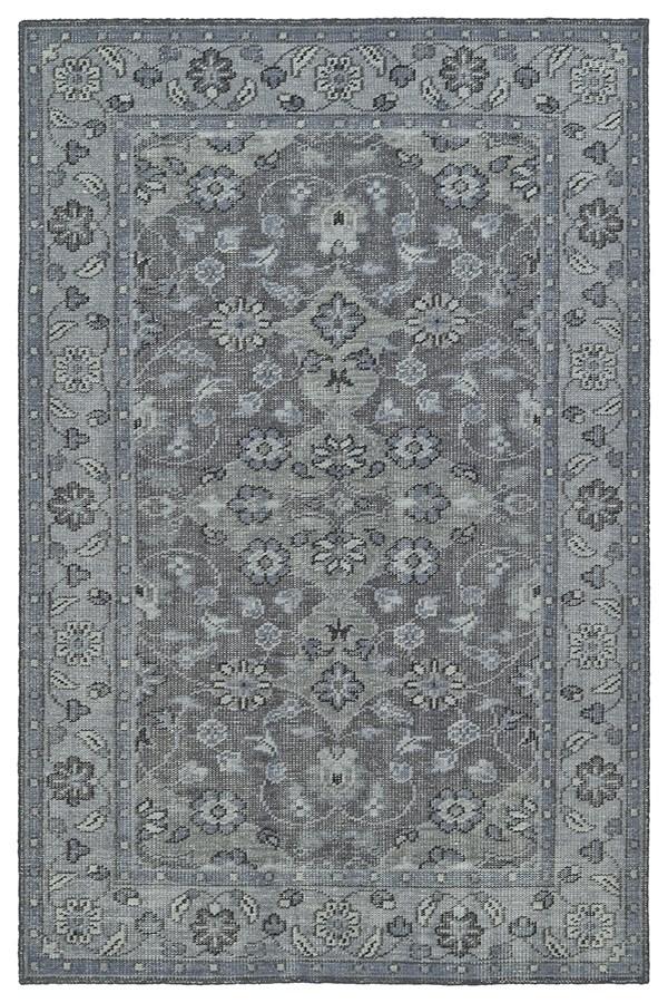Grey, Silver, Steel (75) Traditional / Oriental Area Rug
