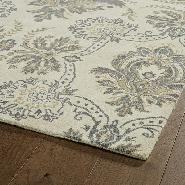 Ivory, Grey, Camel, Dark Grey (01) Transitional Area Rug