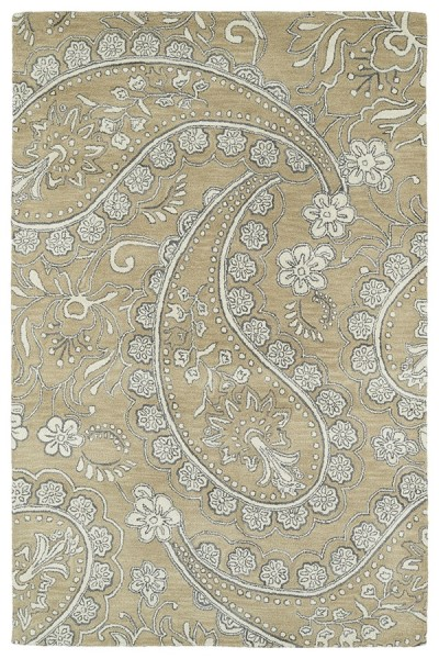 Camel, Ivory, Light Grey (43) Traditional / Oriental Area Rug